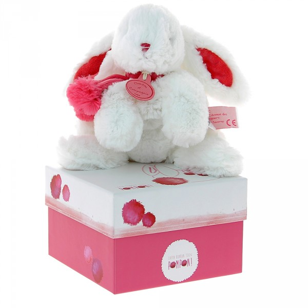 lapin pompon fraise 25 cm de doudou et compagnie. Black Bedroom Furniture Sets. Home Design Ideas