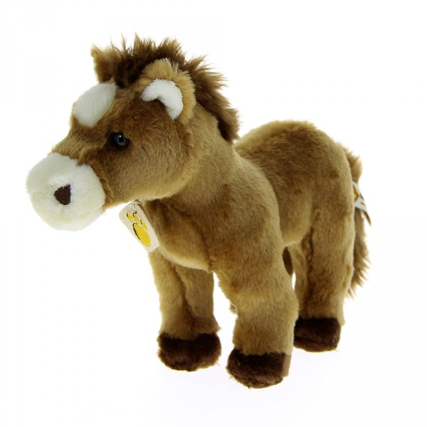 Peluche cheval marron clair 25 cm