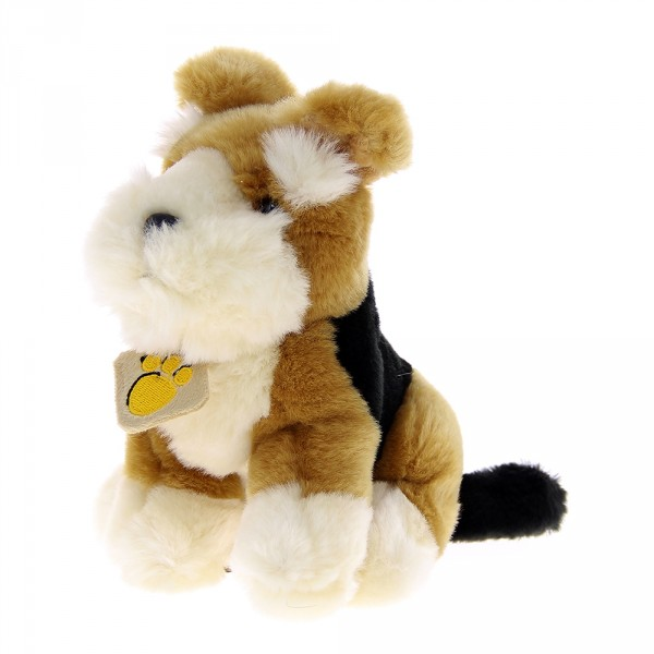 Peluche chien tricolore clochard 16 cm