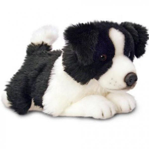 Peluche chien border collie 35 cm