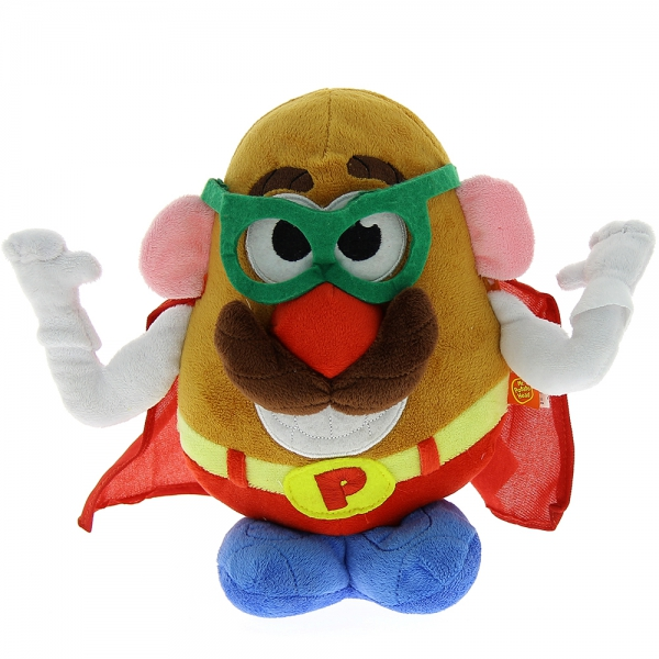 Peluche Mr Patate super héros 18 cm
