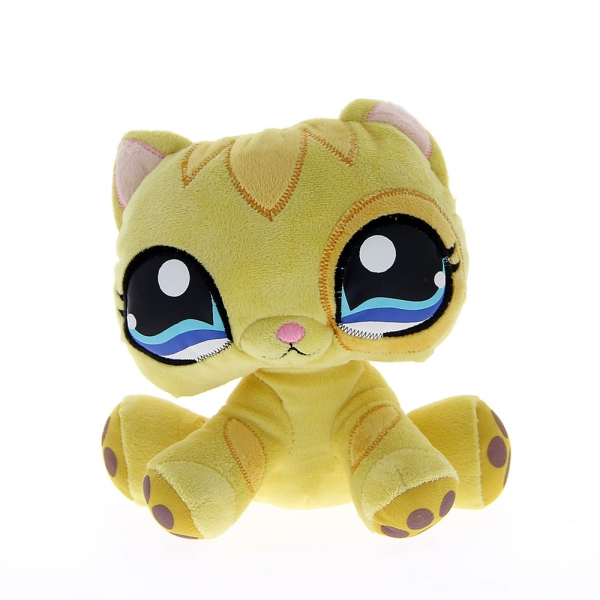Peluche Pet Shop chat jaune 24 cm