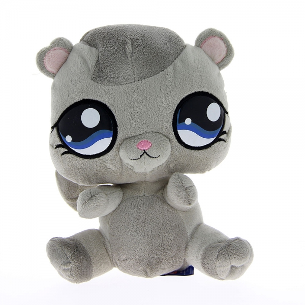 Peluche Pet Shop chat gris 24 cm