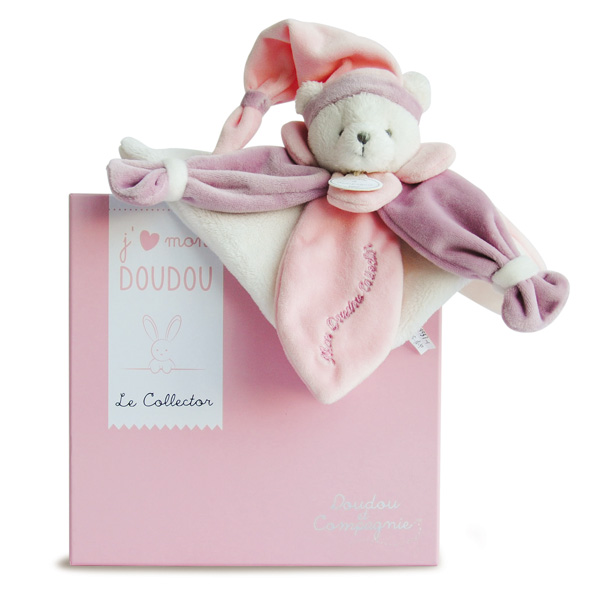 Doudou Collector ours rose 24 cm