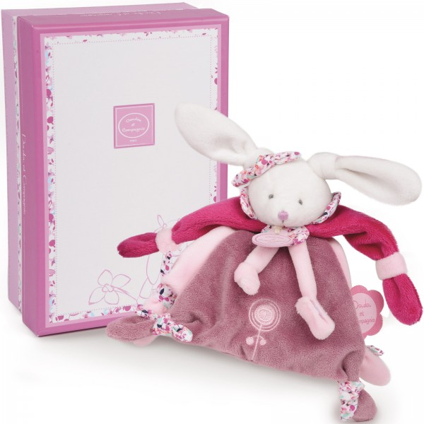 doudou attache sucette cerise le lapin 17 cm doudou et compagnie mynoors. Black Bedroom Furniture Sets. Home Design Ideas