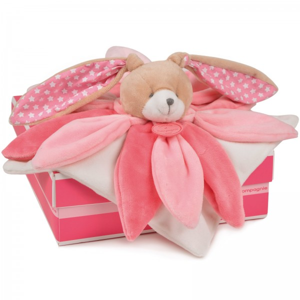 Doudou lapin rose collector 28 cm