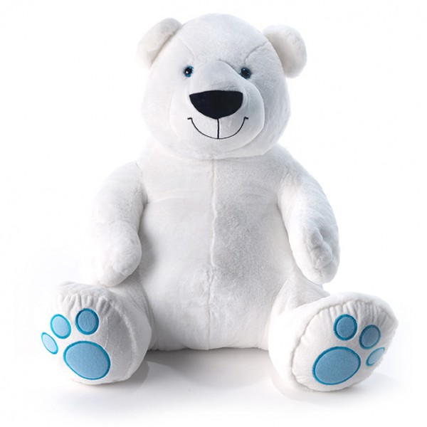 Peluche ours polaire assis 80 cm