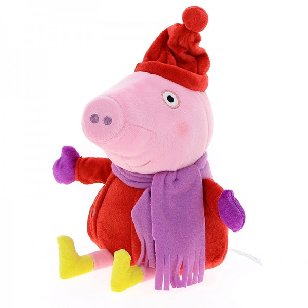 peluche peppa pig bleu avec son bonnet rouge barrado. Black Bedroom Furniture Sets. Home Design Ideas