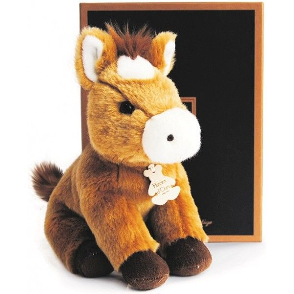 Peluche Cheval Authentique 20 cm