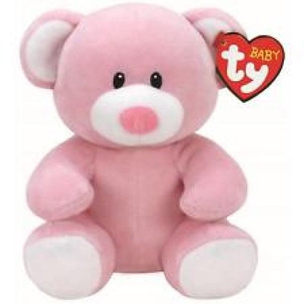 Peluche Princess l'ours rose 15 cm