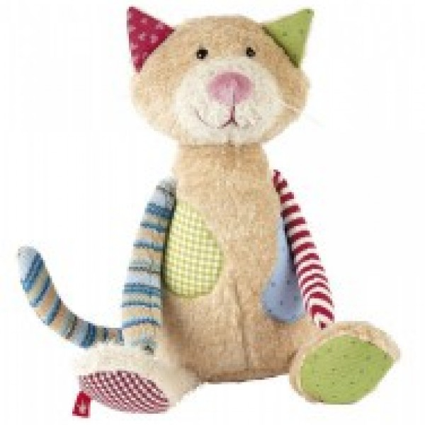 Peluche chat Patchwork Sweety 30 cm