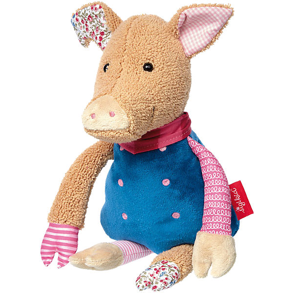 Peluche cochon Patchwork Sweety 31 cm