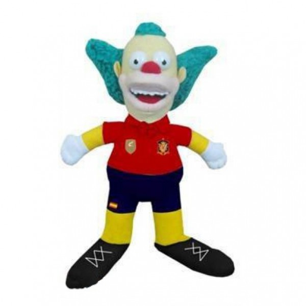 Peluche Krusty le clown Simpson 28 cm