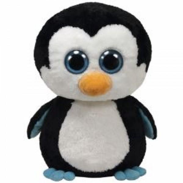 Peluche pingouin Waddles aux gros yeux