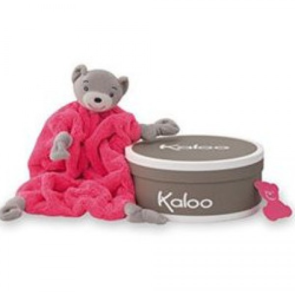 Doudou ours rose fluo 20 cm