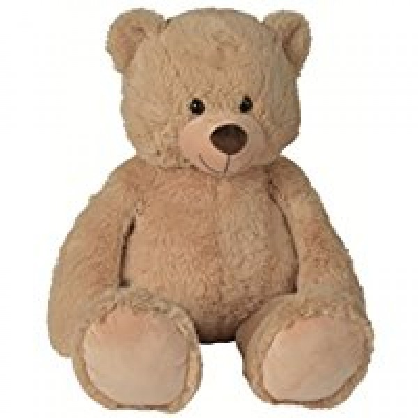 Peluche ours beige 60 cm