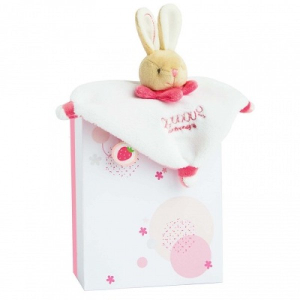 Mini Doudou acidulé lapin rose 17 cm