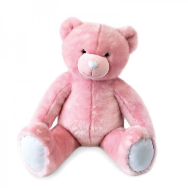 Peluche ours rose sorbet 120 cm