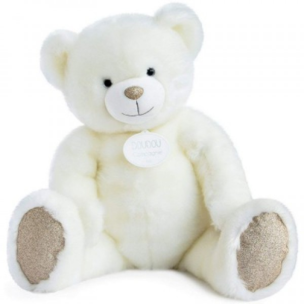 Peluche ours collection blanc poudré 120 cm