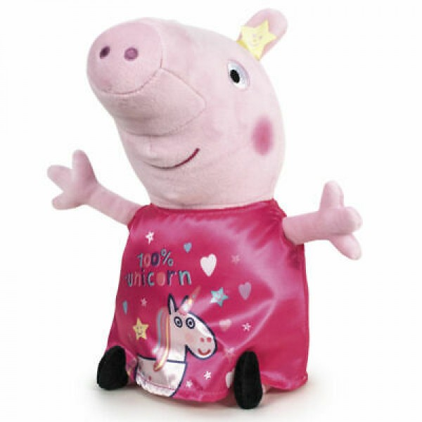Peluche Peppa Pig it's magic rose 20 cm
