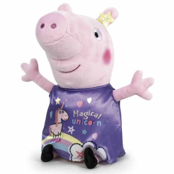 Peluche Peppa Pig it's magic violette 20 cm