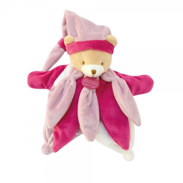 Doudou marionnette ours fushia collector