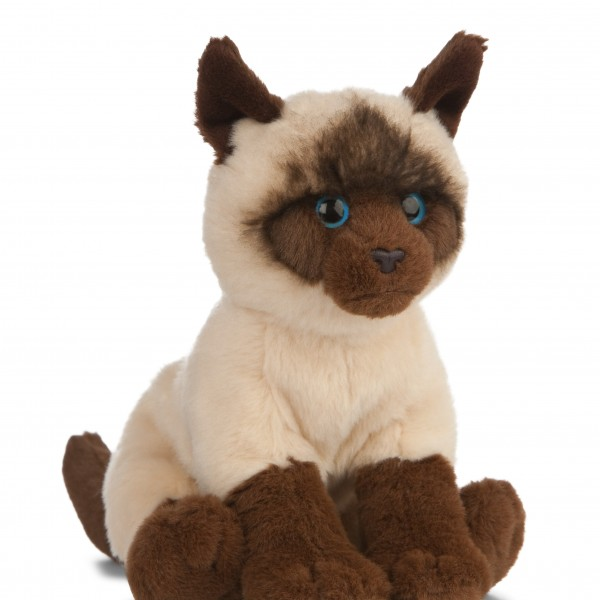 Peluche chat siamois 20 cm