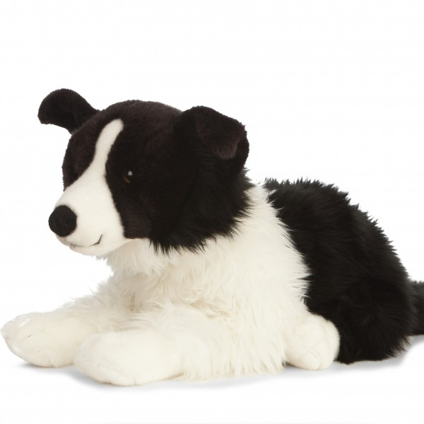Peluche chien border collier 60 cm -