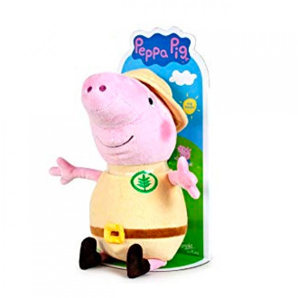 Peluche Peppa Pig explorateur 27 cm