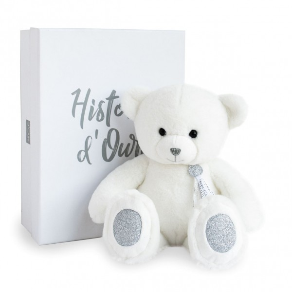 Peluche ours Charms blanc 40 cm