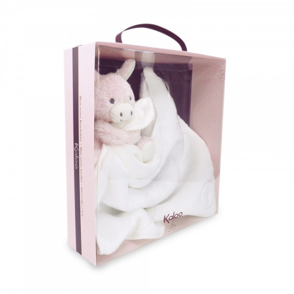 Doudou câlin anon Régliss rose 28 cm