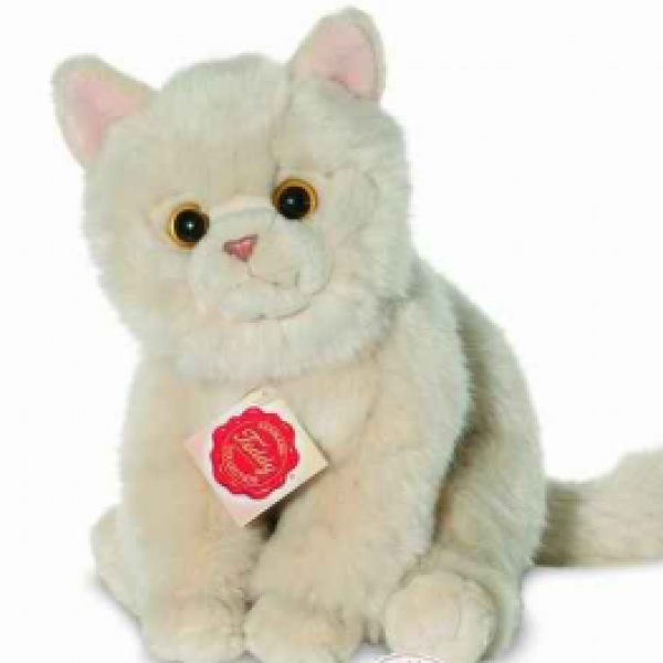 Peluche chat assis 24 cm -