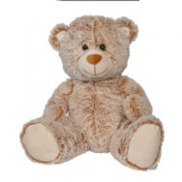 Peluche ours marron clair assis 40 cm