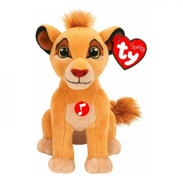 Peluche Simba musicale aux gros yeux 18 cm