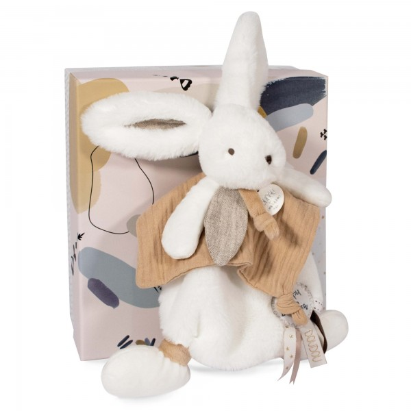 Doudou pompon naturel HAPPY WILD 25 cm