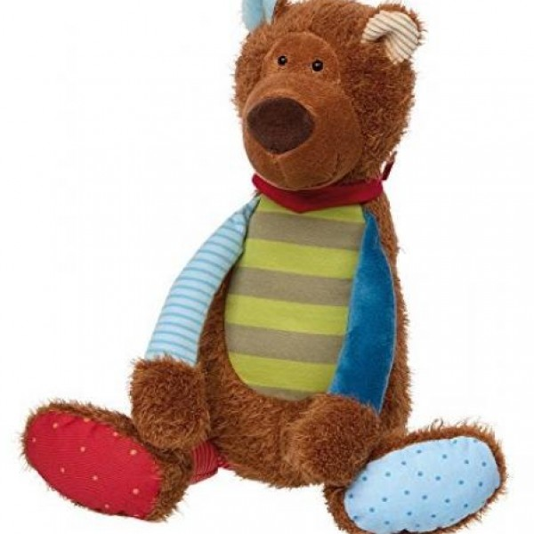 Peluche ours Patchwork 37 cm